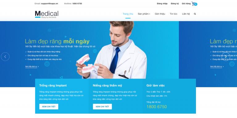trang dau web nha khoa